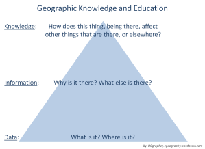 Geographic Knowledge and Education (via ME!)