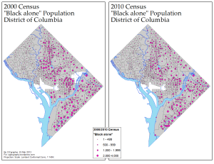 Concentration of D.C.'s Black Community, 2000/2010 (via ME!)