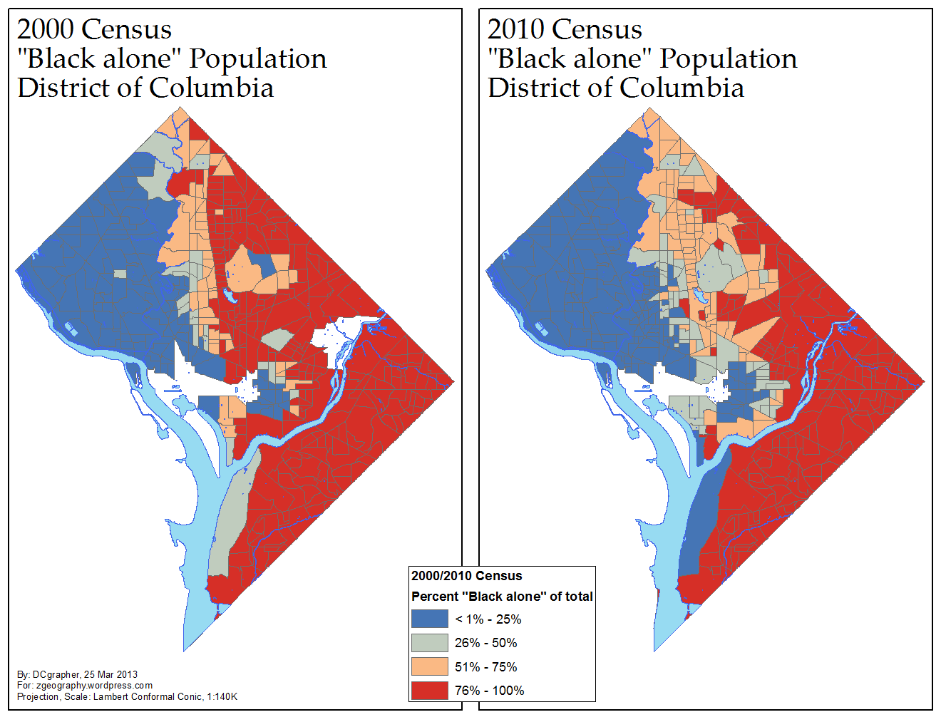 Proportion Of D C S Black Population 2000 2010 Via Me